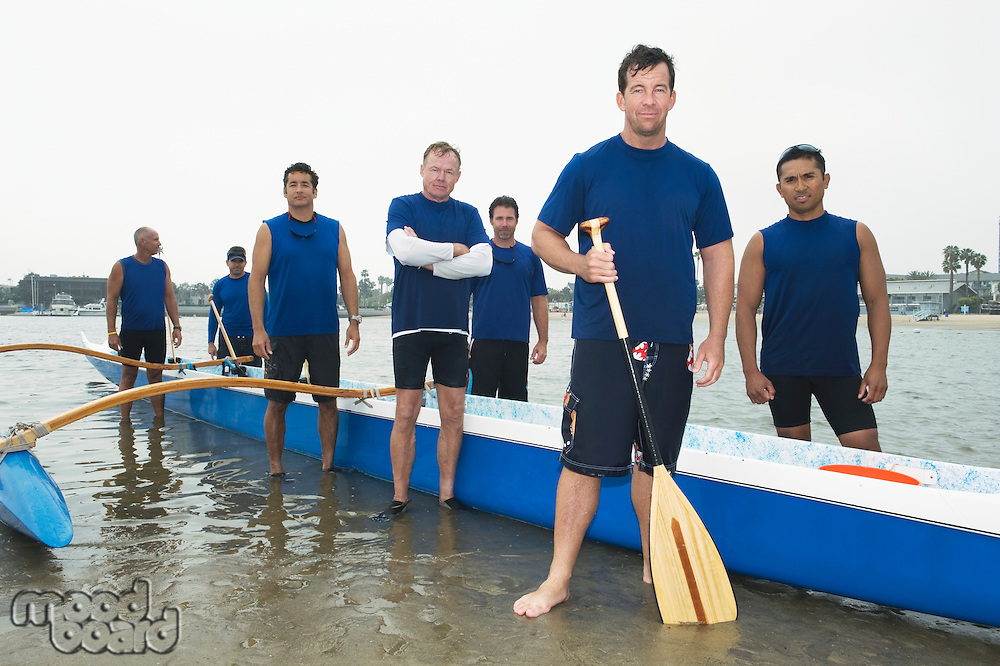 Outrigger canoeing team group portrait
