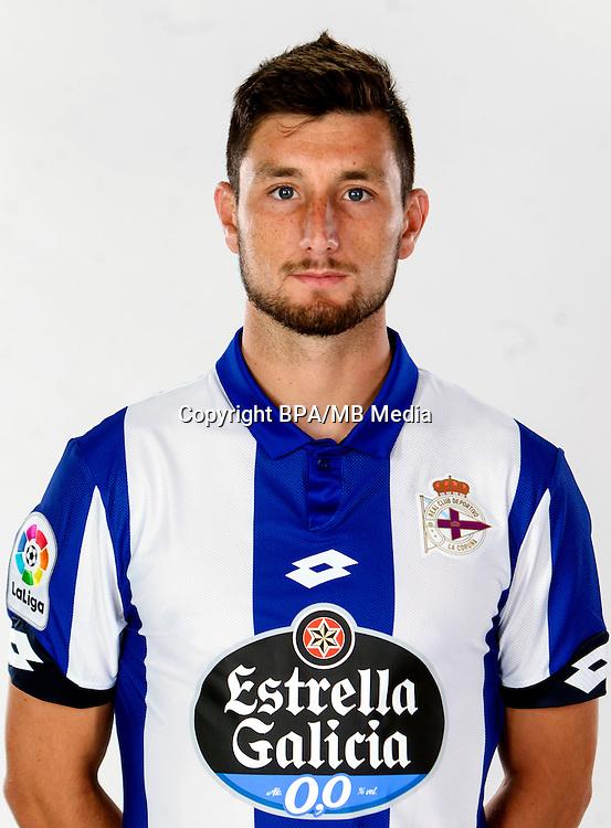 Spain - La Liga Santander 2016-2017 / <br /> ( R.C. Deportivo de La Coruna ) - <br /> Borja Valle Balonga &quot; Borja Valle &quot;