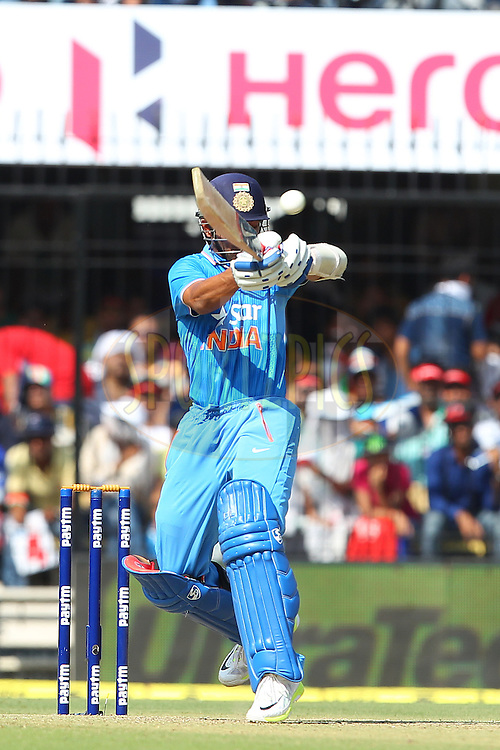 Ajinkya Rahane of India  during the 2nd Paytm Freedom Trophy Series One Day International ( ODI ) match between India and South Africa held at the Holkar Stadium in Indore, India on the 14th October 2015<br /> <br /> Photo by Ron Gaunt/ BCCI/ Sportzpics