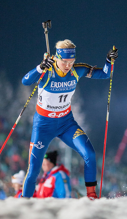 11.01.2013, Chiemgau Arena, Ruhpolding, GER, E.ON IBU Weltcup, Sprint, Damen, im Bild Emelie Larsson (SWE) // Emelie Larsson of Sweden during Womens sprint of E.ON IBU Biathlon World Cup at the Chiemgau Arena in Ruhpolding, Germany on 2013/01/11. EXPA Pictures © 2013, PhotoCredit: EXPA/ Sven Kiesewetter