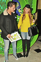 LONDON - November 14: Mario Falcone & Lucy Mecklenburgh at Children in Need POP goes the Musical: Shrek The Musical (Photo by Brett D. Cove)