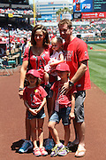 ANAHEIM, CA - JUNE 16:  A family poses for a photo before the Los Angeles Angels of Anaheim game against the New York Yankees on Sunday, June 16, 2013 at Angel Stadium in Anaheim, California. The Yankees won the game 6-5. (Photo by Paul Spinelli/MLB Photos via Getty Images)