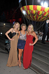 Left to right, SORREL ROSE, MOLLIE KING and CHEMMY ALCOTT at The Global Party held at The Natural History Museum, Cromwell Road, London on 8th September 2011.
