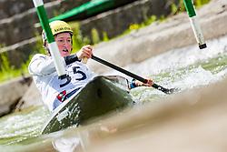 Eva Alina Hocevar during the Kayak Single (C1) Women race of Tacen Cup 2020 on May 24, 2020 in Tacen, Ljubljana, Slovenia. Photo By Grega Valancic / Sportida