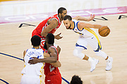 Golden State Warriors guard Stephen Curry (30) drives to the basket against the Houston Rockets during Game 6 of the Western Conference Finals at Oracle Arena in Oakland, Calif., on May 26, 2018. (Stan Olszewski/Special to S.F. Examiner)