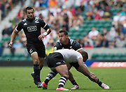 Twickenham, Surrey United Kingdom. With the ball, Fa'asiu FUATAL, in action during the Pool C Game. New Zealand vs Fiji at the &quot;2017 HSBC London Rugby Sevens&quot;,  Saturday 20/05/2017 RFU. Twickenham Stadium, England    <br /> <br /> [Mandatory Credit Peter SPURRIER/Intersport Images]