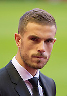 Jordan Henderson of Liverpool before the Barclays Premier League match at Anfield, Liverpool<br /> Picture by Russell Hart/Focus Images Ltd 07791 688 420<br /> 08/11/2015