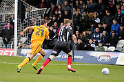 Grimsby Town midfielder Sam Kelly (11) attacking  during the EFL Sky Bet League 2 match between Grimsby Town FC and Port Vale at Blundell Park, Grimsby, United Kingdom on 10 March 2018. Picture by Mick Atkins.