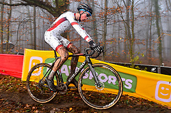 November 25, 2017 - Zeven, GERMANY - Czech Thomas Kopecky pictured in action during the men junior race of the World Cup cyclocross in Zeven, Germany, the fifth race of the UCI Cyclocross World Cup championship, Saturday 25 November 2017. BELGA PHOTO LUC CLAESSEN (Credit Image: © Luc Claessen/Belga via ZUMA Press)
