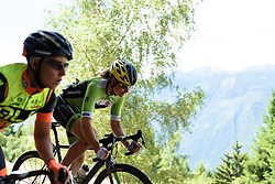 Sheyla Gutierrez (Cylance Pro Cycling) enjoying the descent at Giro Rosa 2016 - Stage 5. A 77.5 km road race from Grosio to Tirano, Italy on July 6th 2016.