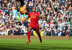 LIVERPOOL, ENGLAND - Sunday, May 11, 2014: Liverpool's Glen Johnson in action against Newcastle United during the Premiership match at Anfield. (Pic by David Rawcliffe/Propaganda)