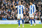 Brighton and Hove Albion midfielder Anthony Knockaert (11) gestures and is frustrated during the Premier League match between Brighton and Hove Albion and Chelsea at the American Express Community Stadium, Brighton and Hove, England on 16 December 2018.