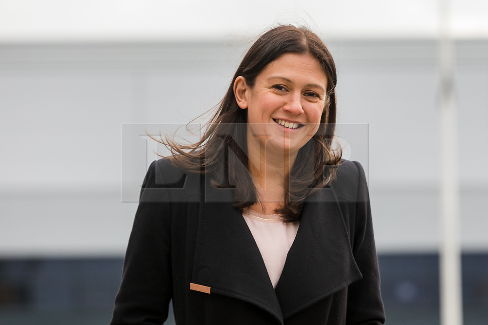 © Licensed to London News Pictures. 13/01/2020. London, UK. Labour leadership candidate, Lisa Nandy arrives at Londoneast-UK in Dagenham to make a leadership speech. Nominations from MPs and MEPs in the Labour leadership contest close this afternoon. Photo credit: Vickie Flores/LNP