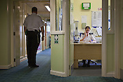 Prison staff on the first night wing at HMP Holloway, the main womens prison in London.