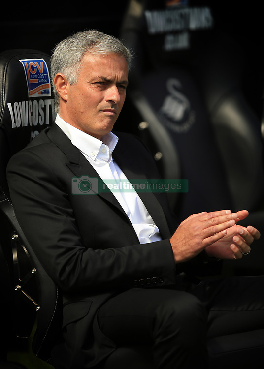 19 August 2017 -  Premier League - Swansea City v Manchester United - Jose Mourinho the head coach / manager of Manchester United - Photo: Marc Atkins/Offside