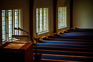 The sanctuary on Wednesday, May 13, 2020, at Trinity Lutheran Church, Millstadt, Ill. LCMS Communications/Erik M. Lunsford
