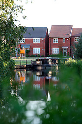 UK ENGLAND LEICESTERSHIRE AYLESTONE 30JUN15 - Residential housing development along the banks of the river Soar at Aylestone Meadows in Leicestershire.<br /> <br /> jre/Photo by Jiri Rezac / WWF UK<br /> <br /> © Jiri Rezac 2015