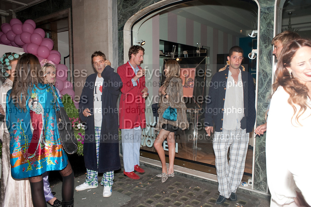 ALEXANDRA SPENCER , Tatler magazine's  pyjama party sponsored by Thomas Pink. Claridge's. London. 7 July 2011.<br /> <br />  , -DO NOT ARCHIVE-© Copyright Photograph by Dafydd Jones. 248 Clapham Rd. London SW9 0PZ. Tel 0207 820 0771. www.dafjones.com.