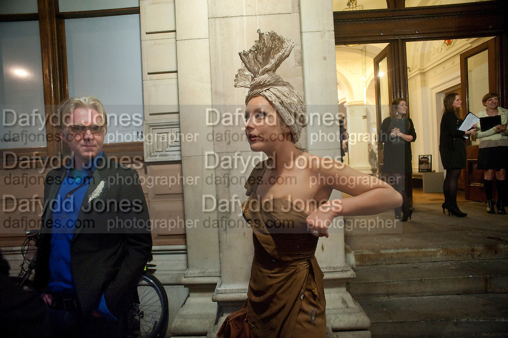 PHILIP TREACY; MARTHA SITWELL, Isabella Blow  by Martina Rink.  Haunch of Venison. London. 13 September 2010., DO NOT ARCHIVE-© Copyright Photograph by Dafydd Jones. 248 Clapham Rd. London SW9 0PZ. Tel 0207 820 0771. www.dafjones.com.