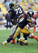 Pittsburgh Steelers running back DeAngelo Williams (34) runs the ball in the third quarter during the 2016 NFL week 2 regular season football game against the Cincinnati Bengals on Sunday, Sept. 18, 2016 in Pittsburgh. The Steelers won the game 24-16. (©Paul Anthony Spinelli)