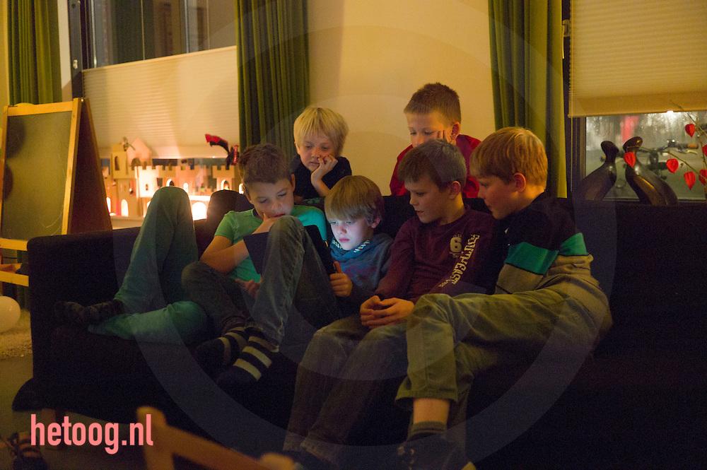 The Netherlands, Nederland enschede, 01nov 2015 feestje tgv Olivier Klos zijn achtste verjaardag.