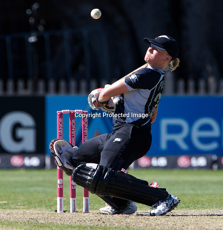 Sydney-March 17:   Kate Pulford batting during the match between New Zealand and India in the Super 6 stage of the ICC Women's World Cup Cricket tournament at North Sydney  Oval, Sydney, Australia on March 17, 2009. New Zealand beat India by 5 wickets. Photo by Tim Clayton.