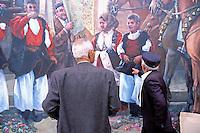 Italie. Sardaigne. Province de Nuoro. Procession dans le village de Fonni. //  Italy. Sardinia. Nuoro province. Procession on the village of Fonni.