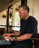 Wednesday Jazz Night with Jonathon Lorentz at the Wayfarer downtown Laconia.  (Karen Bobotas/for the Laconia Daily Sun)