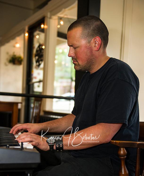 Wednesday Jazz Night with Jonathon Lorentz at the Wayfarer downtown Laconia.  (Karen Bobotas/for the Laconia Daily Sun)
