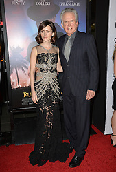 Lily Collins & Warren Beatty bei der Premiere von Rules Don't Apply in Hollywood<br /> <br /> / 101116<br /> <br /> ***Premiere of Rules Don't Apply in Hollywood in november 10, 2016***