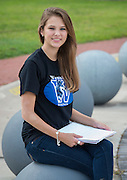 Westside High School student Avery Valdes poses for a photograph at the Houston Community College Northeast campus, October 9, 2014.