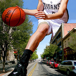 Kyle Green | The Roanoke Times<br /> April 10, 2007 ***Photo Illustration*** Timesland girls basketball player of the year, Abby Oliver, junior, from Hidden Valley High School.