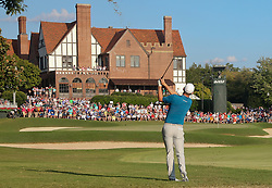 September 22, 2018 - Atlanta, Georgia, United States - Justin Rose hits a fairway shot on the 18th hole during the third round of the 2018 TOUR Championship. (Credit Image: © Debby Wong/ZUMA Wire)