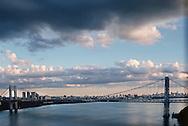 George Washington Bridge, New York City, New York, architect Othmar Ammann, Cass Gilbert