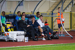 Simon Rozman, head coach of NK Domzale, Ales Kacicnik and Matej Orazem during football match between NK Domzale and NK Aluminij in 8th Round of Prva liga Telekom Slovenije 2016/17, on September 9, 2016 in Sportni Park, Domzale, Slovenia. Photo by Ziga Zupan / Sportida