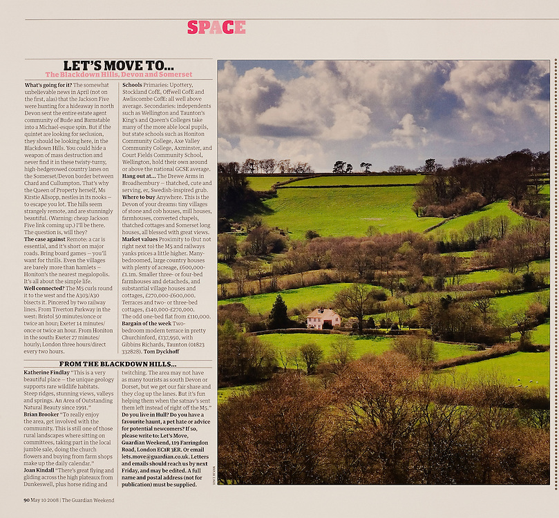 The Blackdown Hills, commissioned by THE GUARDIAN WEEKEND MAGAZINE.