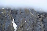 Felswand fotografiert von der Lucknerhütte aus. Großglockner, Nationalpark Hohe Tauern, Österreich