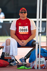 Behind the scenes, ASHAPATOV Alexey, RUS, Discus, F57/58, 2013 IPC Athletics World Championships, Lyon, France