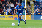 AFC Wimbledon defender Paul Kalambayi (30) dribbling during the EFL Sky Bet League 1 match between AFC Wimbledon and Rochdale at the Cherry Red Records Stadium, Kingston, England on 5 October 2019.