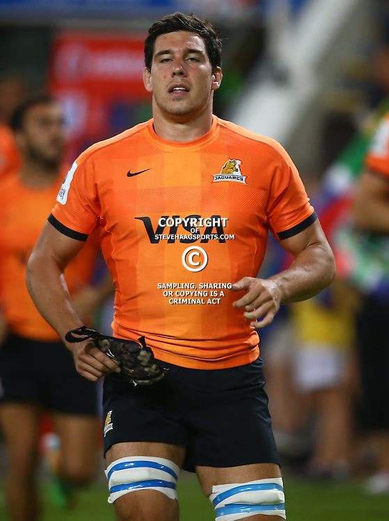 DURBAN, SOUTH AFRICA - MARCH 05: Guido Petti of the Jaguares during the 2016 Super Rugby match between Cell C Sharks and Jaguares at Growthpoint Kings Park Stadium on March 05, 2016 in Durban, South Africa. (Photo by Steve Haag/Gallo Images)