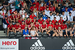 England U21s. England v Argentina - Hockey World League Semi Final, Lee Valley Hockey and Tennis Centre, London, United Kingdom on 18 June 2017. Photo: Simon Parker