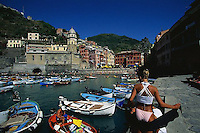 2000, Vernazza, Italy --- Vernazza Marina --- Image by © Owen Franken/CORBIS