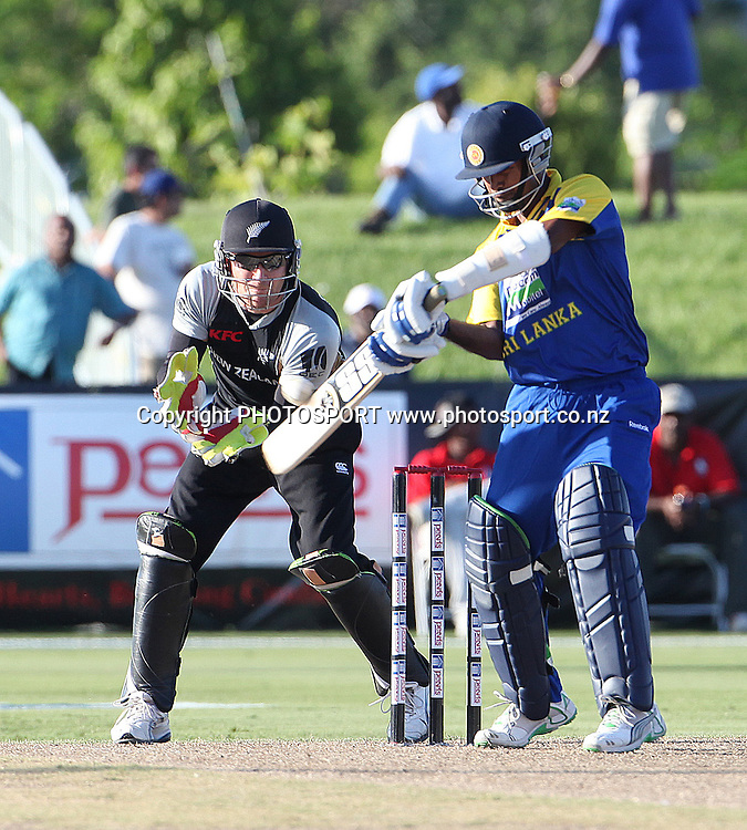 KMDN Kulasekara. New Zealand Black Caps v Sri Lanka, international exhibition Twenty 20 cricket match, Central Broward Regional Park, Florida, United States of America. 22 May 2010. Photo: Barry Bland/PHOTOSPORT