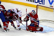 17 November 2009: Montreal Canadiens' goalie Carey Price make a save during the first period against Carolina Hurricanes at the Bell Centre in Montreal, Quebec, Canada. Montreal Canadiens defeated Carolina Hurricanes 3-2 after a shootout.