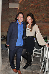 LARS VON BENNIGSEN and ALICE TEMPERLEY at an evening of cheesey culinary delights & champagne hosted by Alex James, Yasmin Mills and Elaine Foran held at Aubaine, 31 Dover Street, London on 20th March 2012.