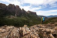 Mount Geryon and the Acropolis in Cradle Mountain–Lake St Clair National Park, Tasmania
