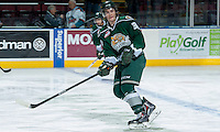 KELOWNA, CANADA - JANUARY 22: Kevin Davis #38 of the Everett Silvertips skates during warm up against the Kelowna Rockets on January 22, 2014 at Prospera Place in Kelowna, British Columbia, Canada.   (Photo by Marissa Baecker/Getty Images)  *** Local Caption *** Kevin Davis;