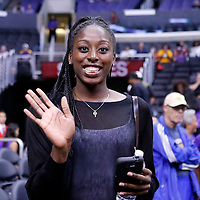 24 August 2014: Basket ball player Chiney Ogwumike is seen during the Phoenix Mercury 93-68 victory over the Los Angeles Sparks, in a Conference Semi-Finals at the Staples Center, Los Angeles, California, USA.