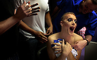 WKNpride:  CRYSTAL CITY, VA: MARAM 201799 CAPTION:  Drag Queens prepare and perform for Freddie's Follies at Freddie's in Crystal City June 01, 2008 ? Destiny B. Childs, the host of the show, fools around back stage before the show.