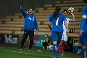 Antonio Cabrini (Manager) (Italy) shouts out instructions to his defenders as England Ladies are about to take a throw in during the Women's International Friendly match between England Ladies and Italy Women at Vale Park, Burslem, England on 7 April 2017. Photo by Mark P Doherty.